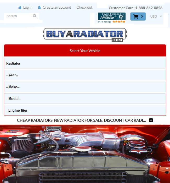 Shopify Website Development for Automotive Industry, USA - BuyARadiator
