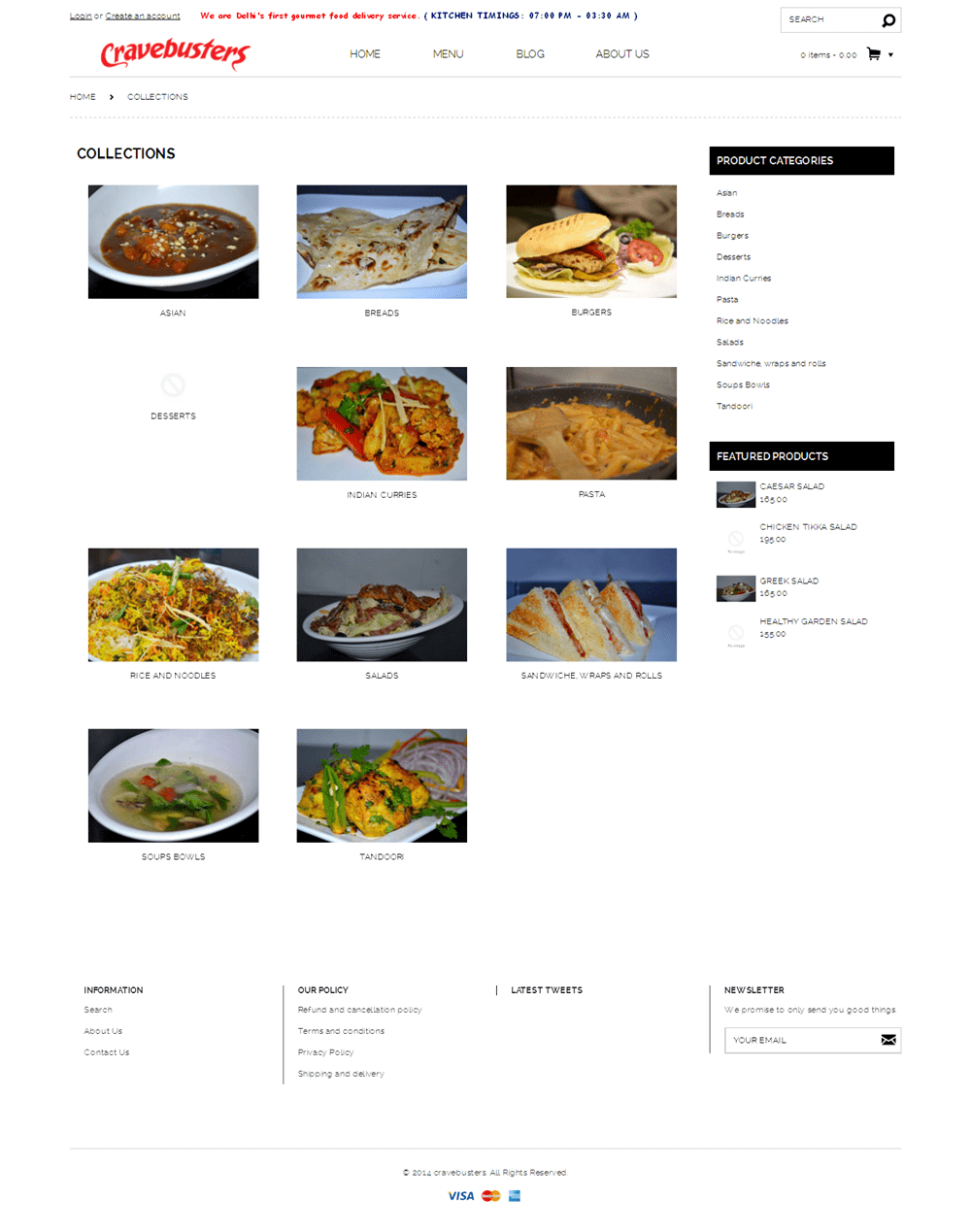 Development of A Shopify Powered Food Ordering Online Store