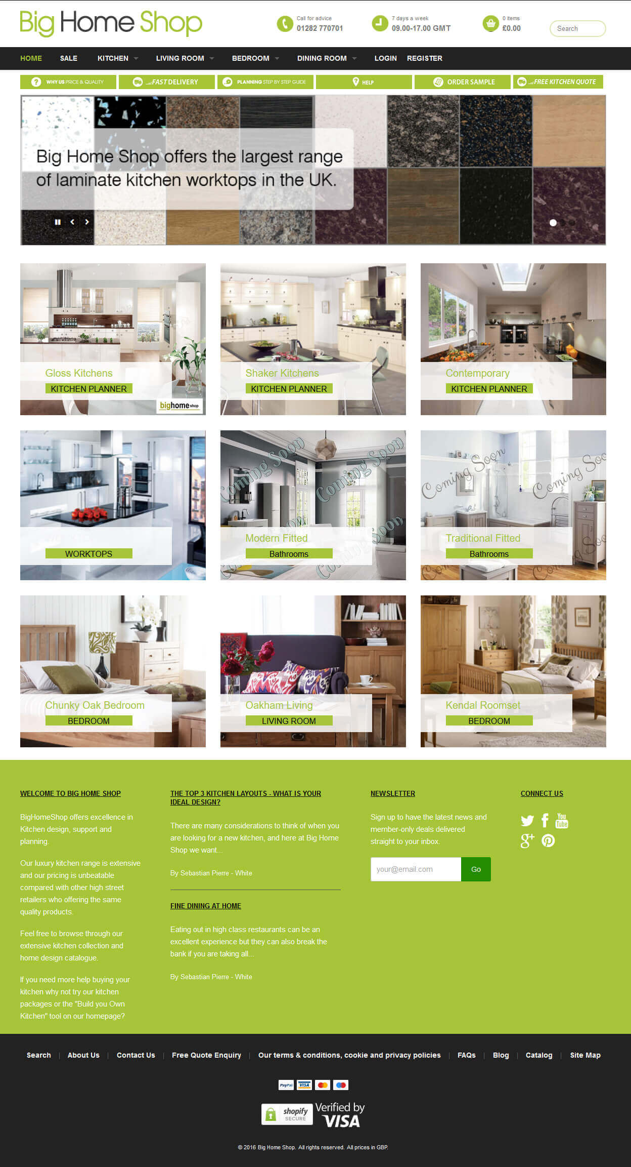 A Shopify Based Online Store to Sale Home Appliances in the UK