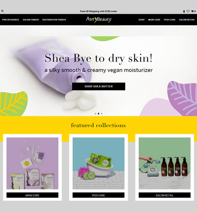 Website Development for Healthcare industry 'Arvy Beauty' in Shopify