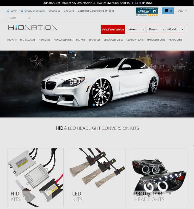 Online Store Development for Automobile Industry in USA – HIDNation