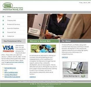 Website for Banking 'National Bank' – Financial Services Provider