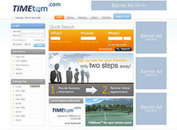 Website for Consumer 'TIMEtom' – IT Consulting Firm