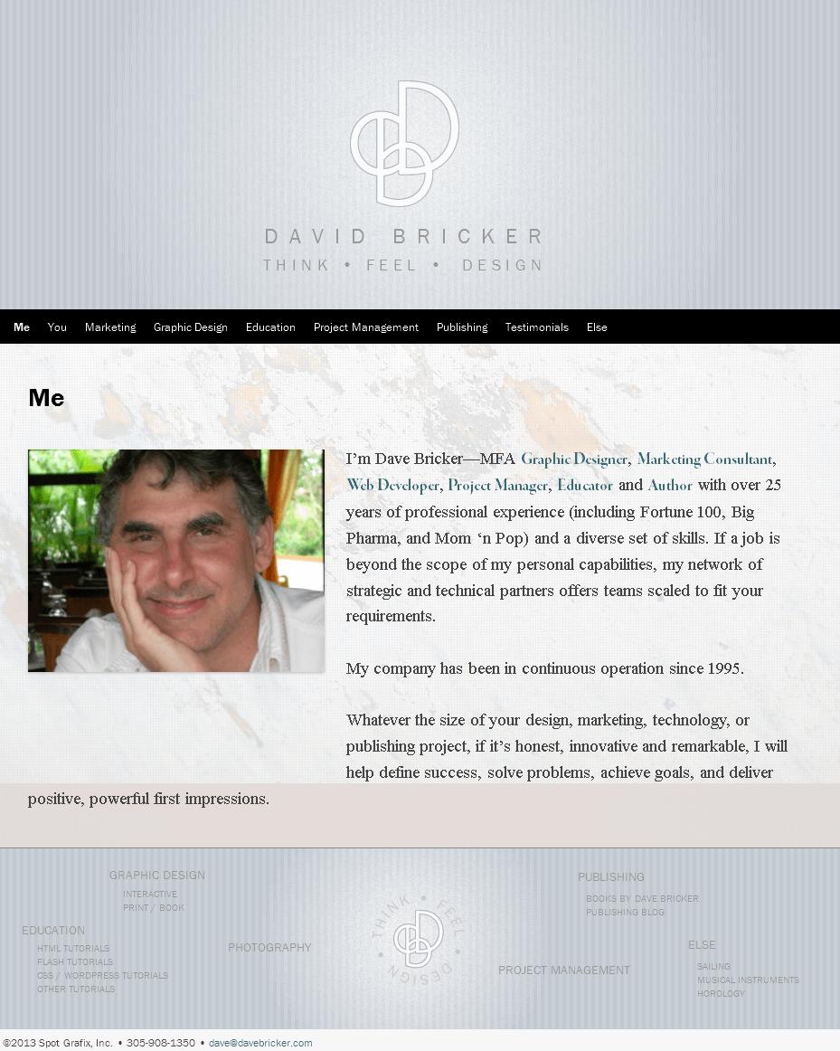 Website for Publisher 'DAVE BRICKER' – Selling Story Books Online