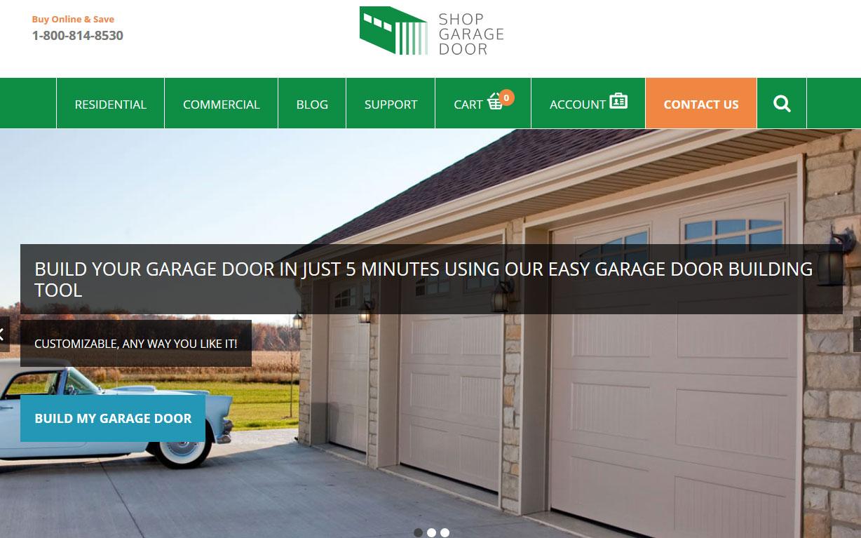 Enhancement of WordPress Based Website - Shop Garage Door