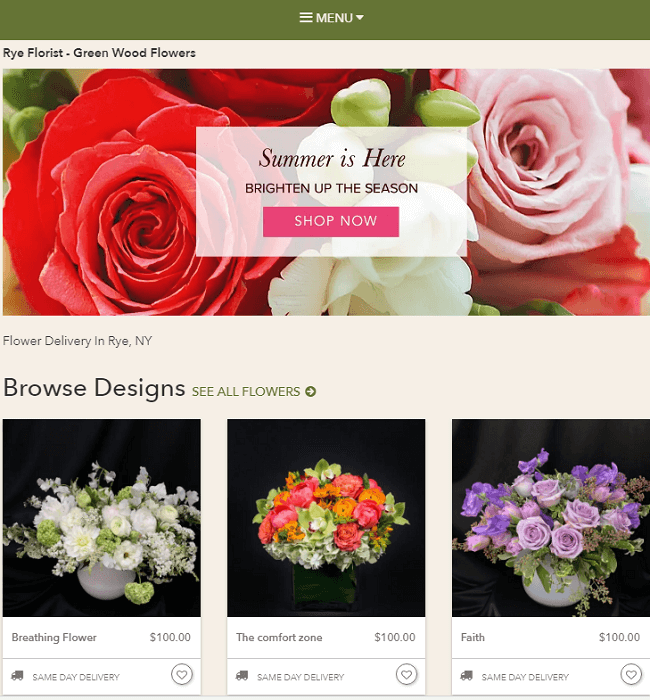 Online Store Development for Green Wood Flowers, a Florist in USA