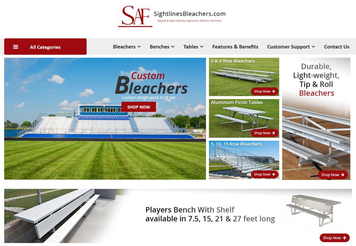 Website for Retail 'SAF' in Wordpress - Aluminum Bleachers provider