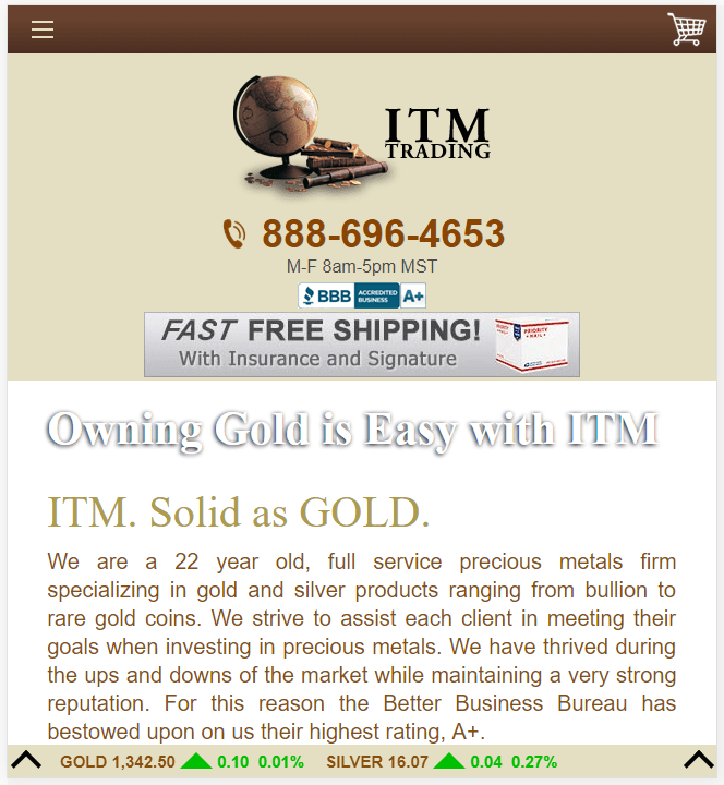 WordPress Website Development for Trading Industry in USA – ITM Trading