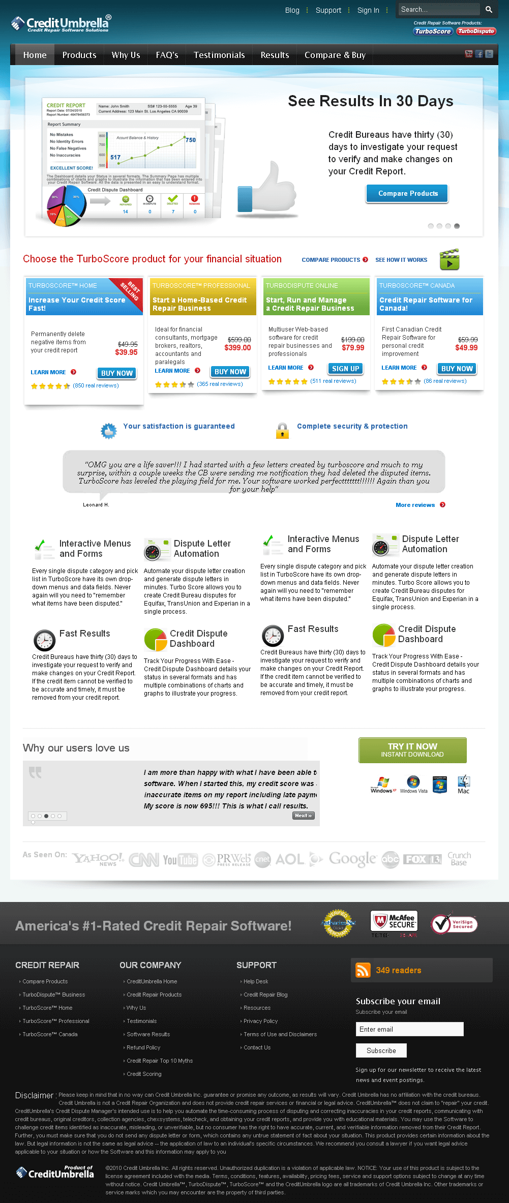 Redevelopment of Wordpress CMS Based  Website - Creditumbrella.com