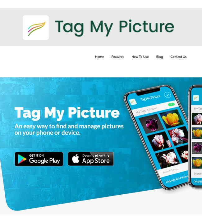 Website Redesigning for Digital Media Industry in USA - Tag My Picture