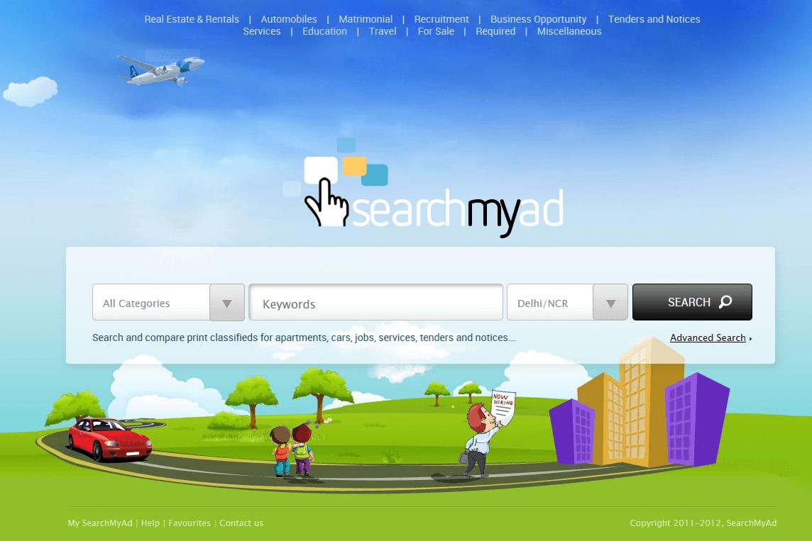 Website for 'SEARCHMYAD' in Wordpress - Classified Listing Portal