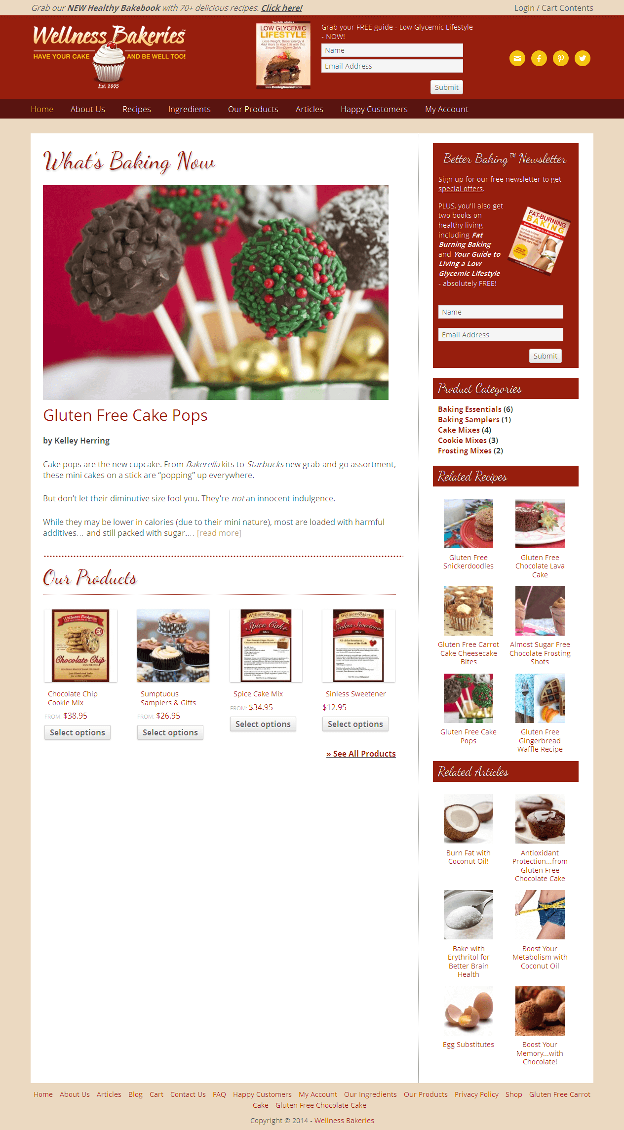 Making Enhancements in an e-commerce Site for Bakery Products