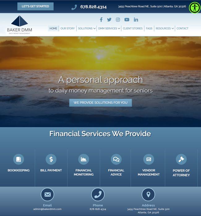 WordPress Website Maintenance for Finance Industry, USA - Baker DMM