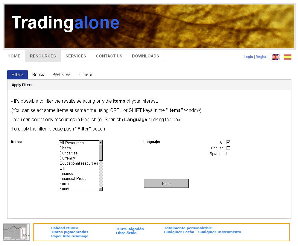 Website for Financial Advisor 'Trading Alone' in Wordpress