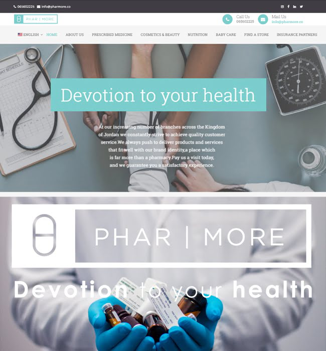 Website Development for Pharmacy Industry 'Pharmore' in WordPress