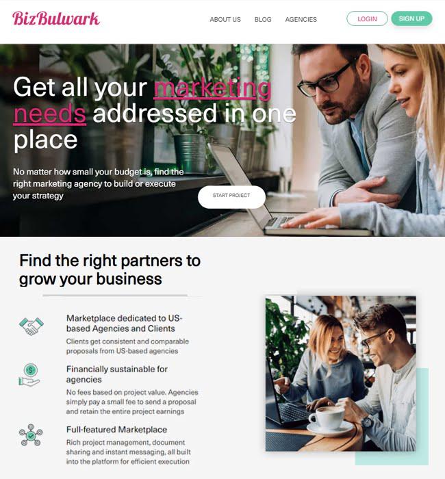 WordPress Website Design & Development for Marketplace, USA - Biz Bulwark