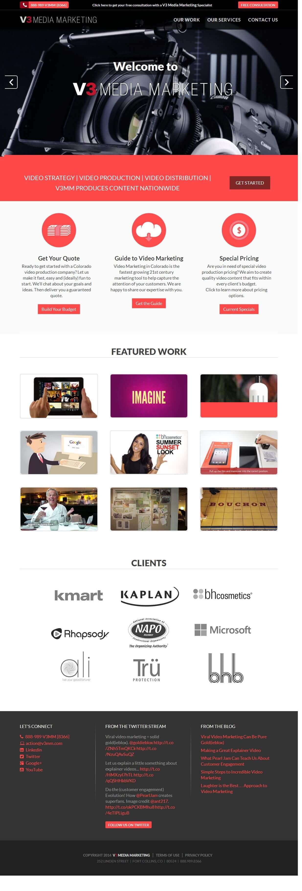 Maintenance of WordPress Powered Media Marketing Company Website