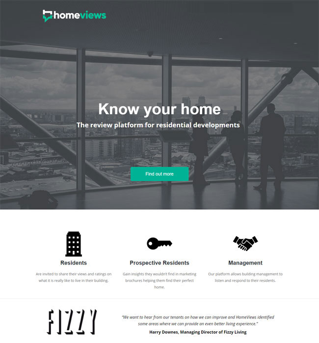 Website Migration & Enhancement for Real Estate Industry in UK - HomeViews