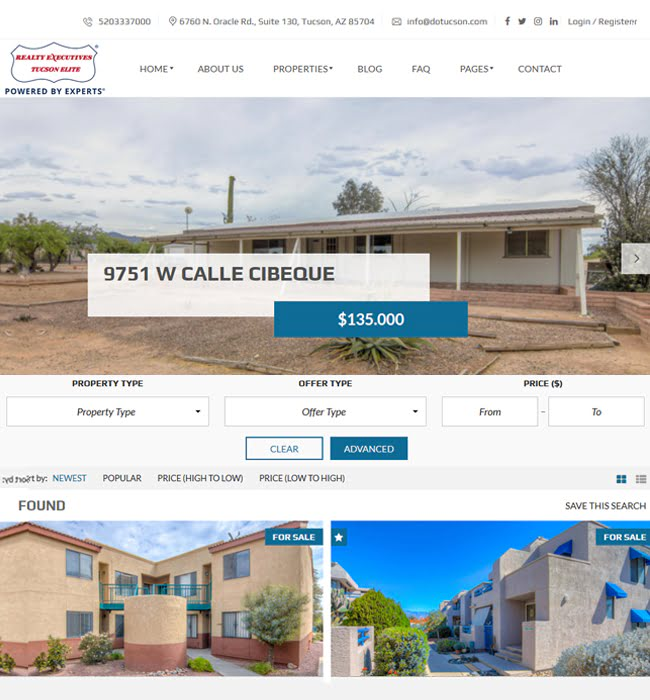 Website Development for Real Estate 'Realty Executives' in WordPress