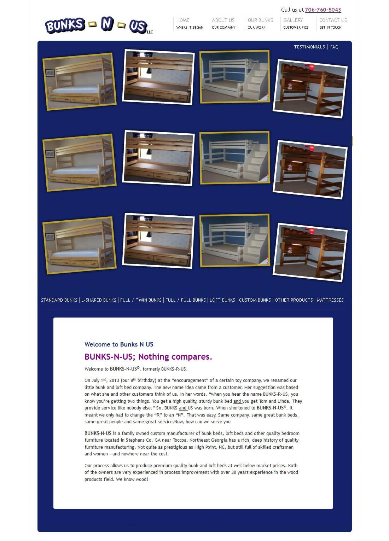 A WordPress Based Website for Bunk & Loft Beds
