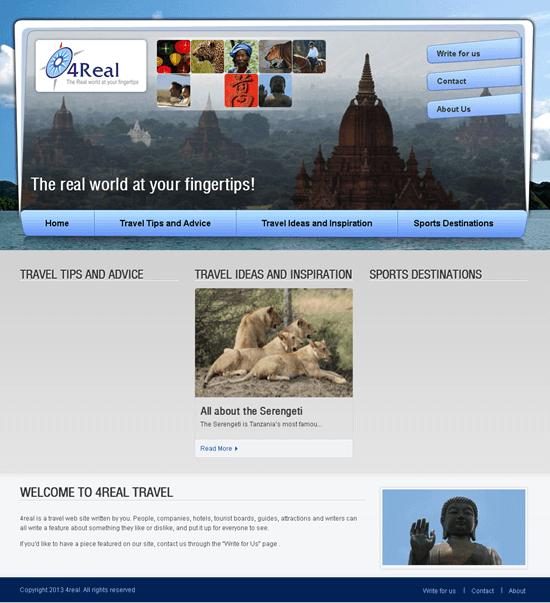 WordPress Based Travel Website - 4Real