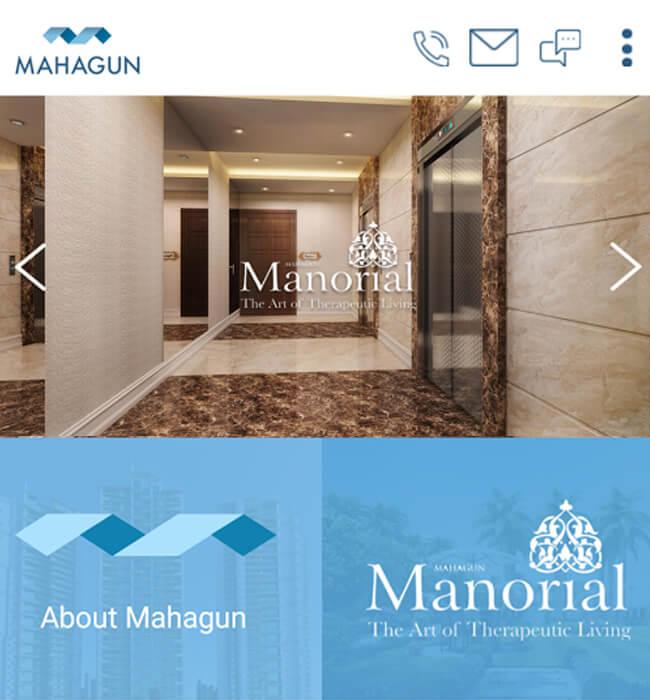 Mahagun Manorial Real Estate Mobile App Using Xamarin Technology