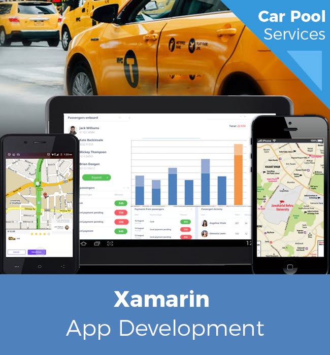 Xamarin Powered Mobile App for Car Pool Services