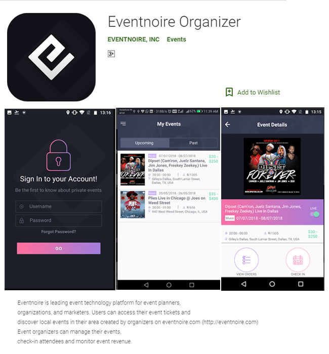 Xamarin App Development for Event Industry in USA - Eventnoire Organizer